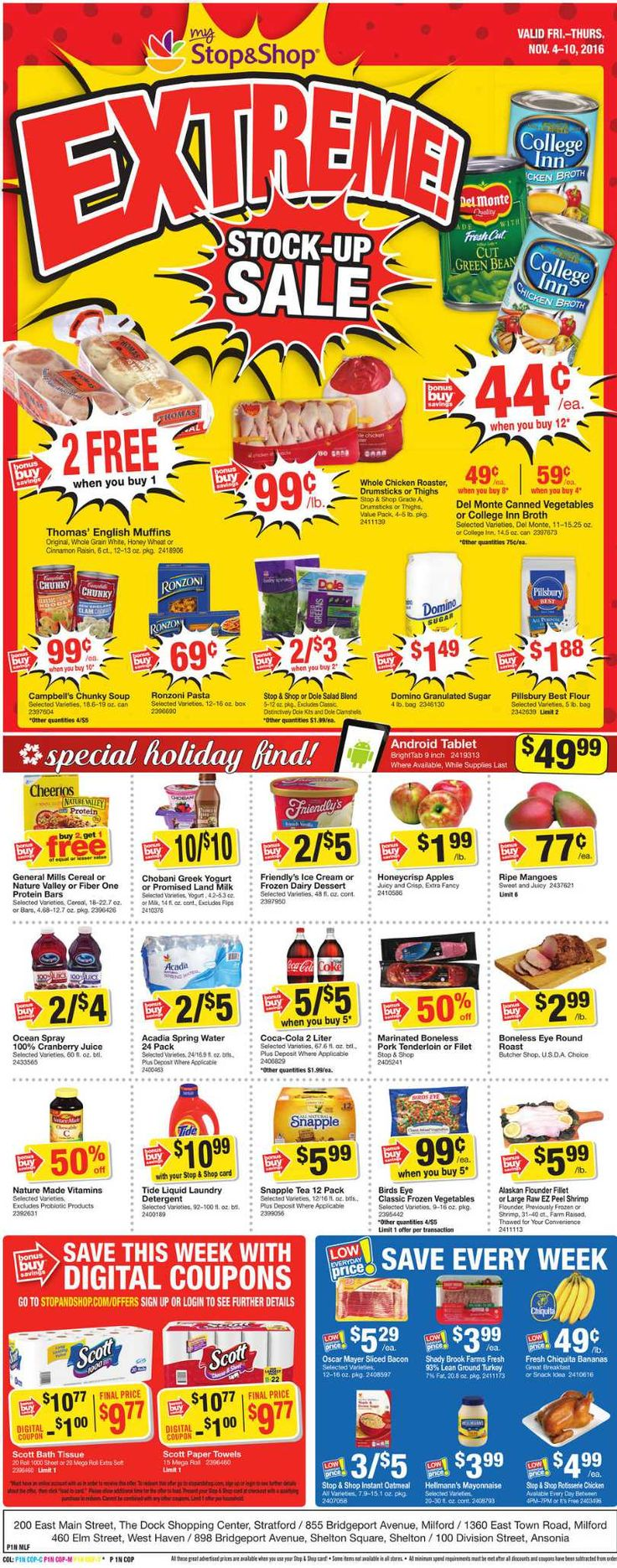 Stop and Shop Circular November 4 - 10 , 2016 - http://www.olcatalog.com/grocery/stop-and-shop-circular.html