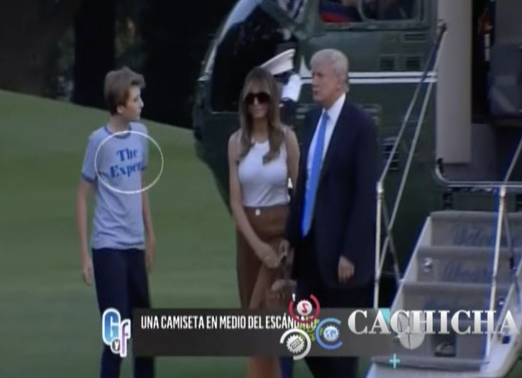 ¿Qué Dice La Camiseta Que Usó El Hijo De Donald Trump? Vea Aquí Porqué Se Agotó En Las Tiendas Y Cuánto Cuesta