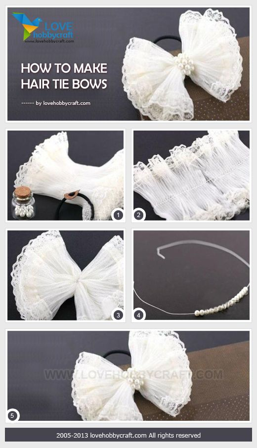 How to make hair tie bows                                                                                                                                                     More
