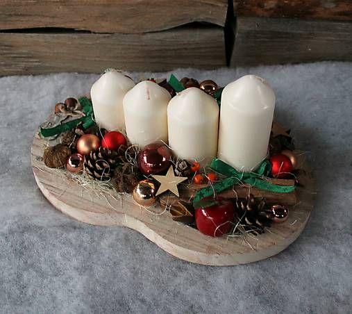 cipishkaLand / vianočné aranžmá_ tradičné farby