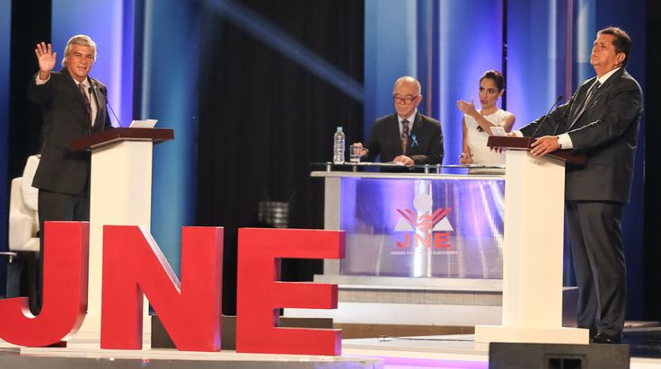 En fotos: 11 momentos del debate presidencial