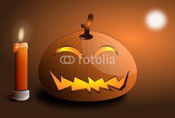 Zucca Halloween con candela
