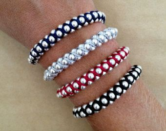 Alta moda plateado Perla pulsera - pulsera de Macrame, pulsera moldeada