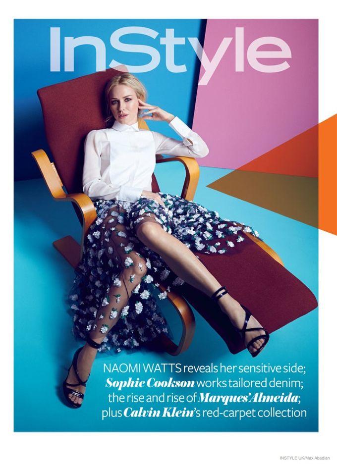 Актриса Наоми Уоттс (Naomi Watts) появилась в февральском InStyle UK. Фотосессию снимал Макс Абадян (Max Abadian).