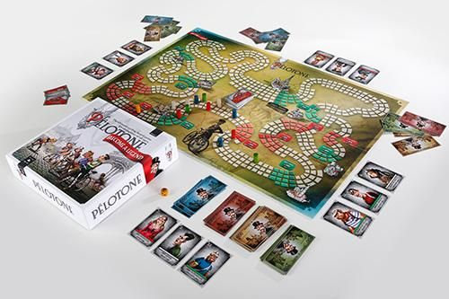 Cycling board game Pélotone