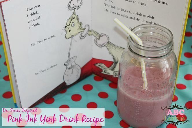 Pink Ink Yink Drink Recipe {Celebrating Dr. Seuss}