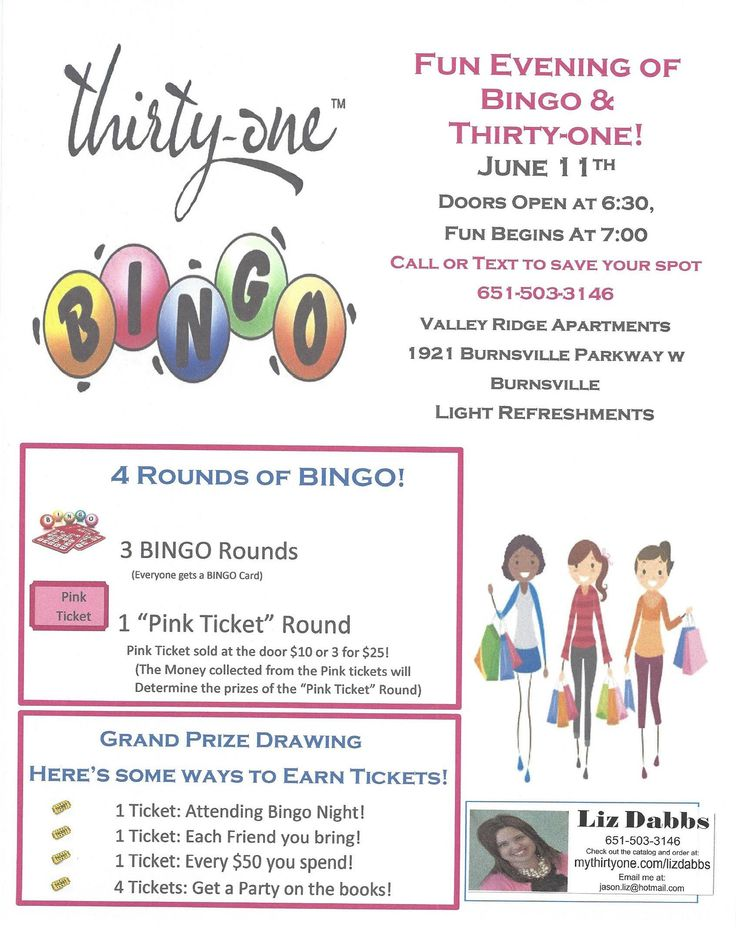 30 best Vendor Bingo/Bunco Event images on Pinterest | 31 ideas ...