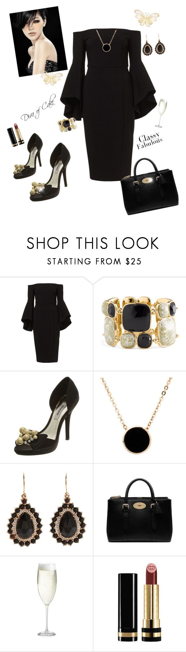 Diva classy and Fabulous   black and gold by Diva of Cake featuring mode, Dune, Mulberry, Irene Neuwirth, Kate Spade, American Apparel, Gucci and Crate and Barrel
