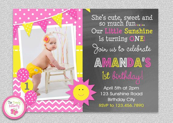 Hey, I found this really awesome Etsy listing at https://www.etsy.com/listing/184226901/sunshine-birthday-invitation-you-are-my