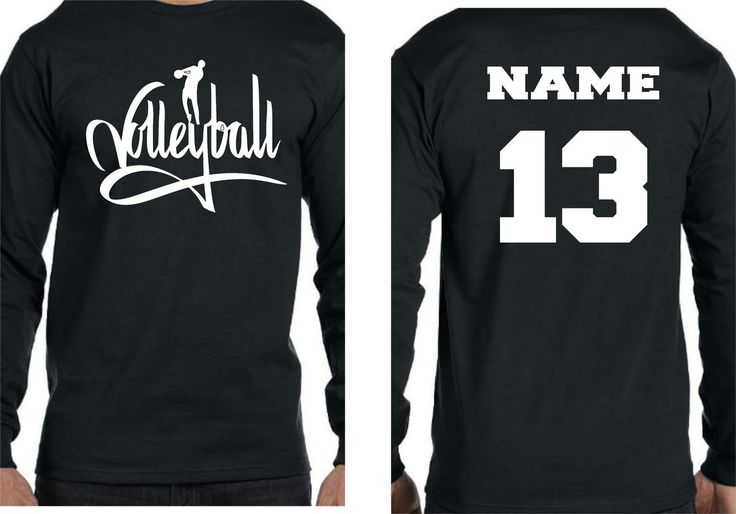 VolleyBall Player w/name and number Long Sleeve TShirt - Changing Seasons