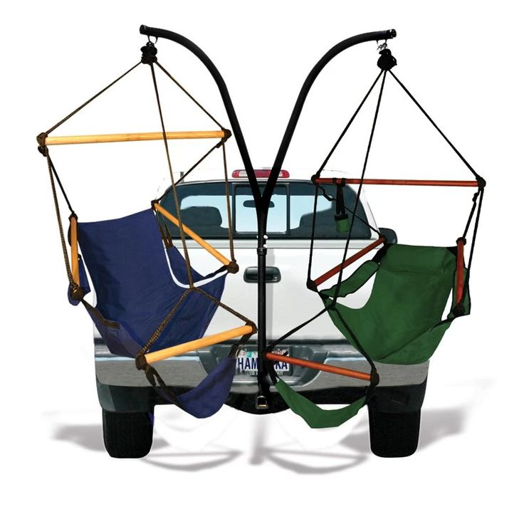 Hammaka Trailer Hitch Stand with Hammaka Chairs | from hayneedle.com