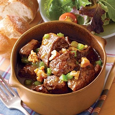 Beef Stew with Carrots, Tomatoes, Peas and Potatoes #recipe