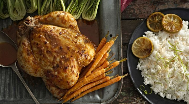 PERi-PERi roast chicken with coconut and lime rice Made with Medium PERi-PERi sauce