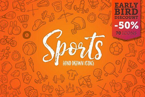 Sports - Hand Drawn Icons by Good Stuff, No Nonsense on @creativemarket