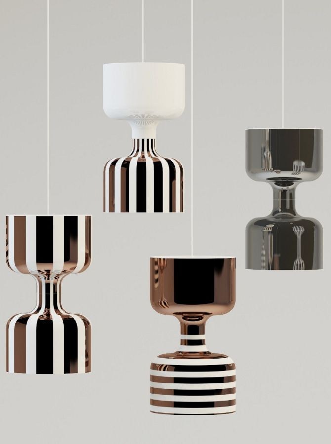 Chapiteau, the new #lamps collection by Ekaterina Elizarova for Bosa at 100% Design - Evoking traveling circues and air acrobats