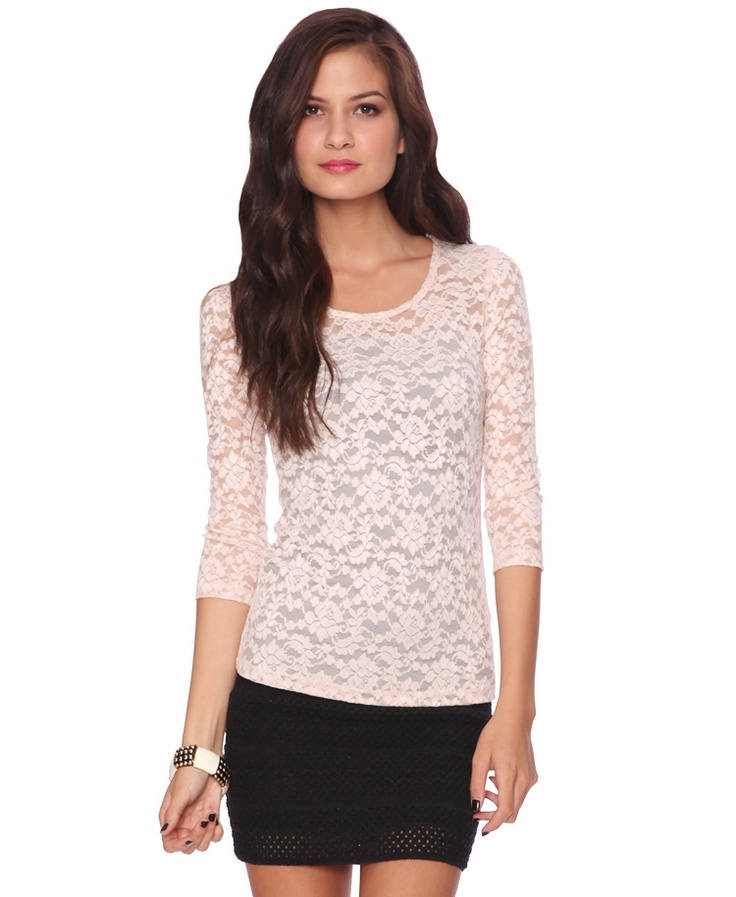 I need this shirt white lace and three quarter length for Three quarter length shirt