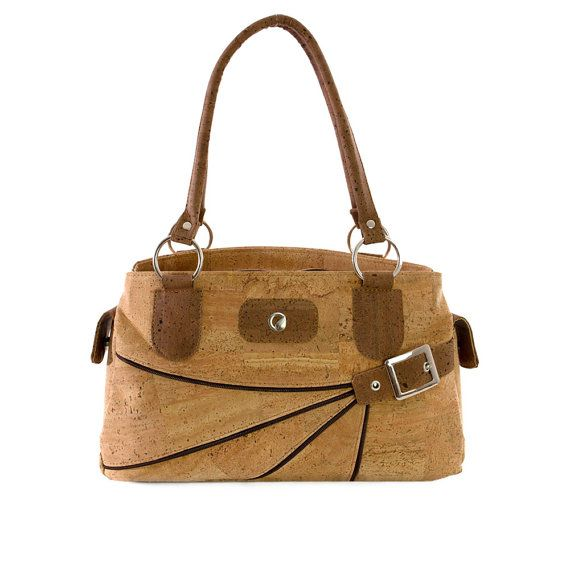 Women Shoulder Bag Made from Cork Handmade Vegan Gift by Corkor