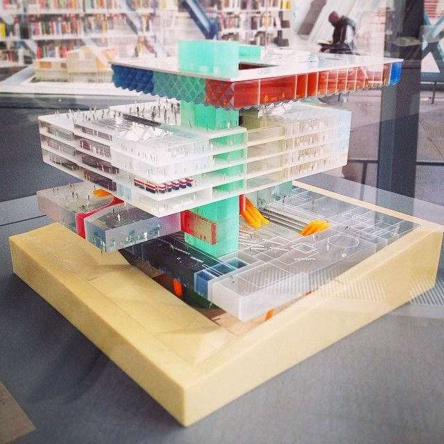 Seattle Public Library model / OMA