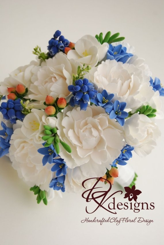 Custom Order Deposit - Couture Clay Bridal Bouquet  ----------------------------  Oh, I love this bouquet