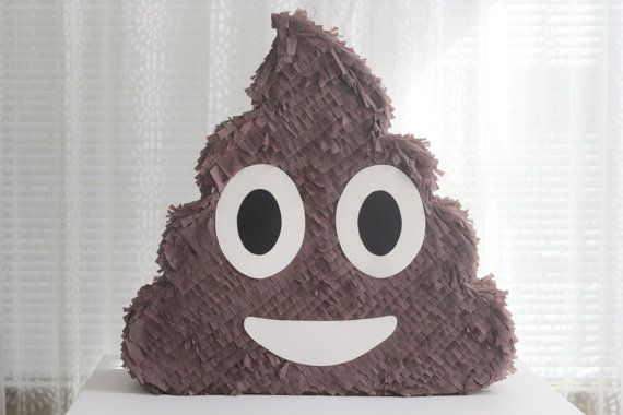 Poop Emoji Pinata 18 or 23 by TheEmojiTree on Etsy
