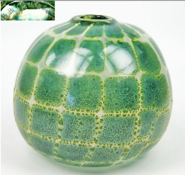 Gullaskruf Glass Vase signed Kjell Blomberg Design
