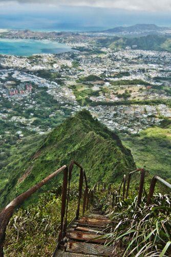 Hawaii - Haiku Stairs of Oahu   The Most Beautiful Spot in Every U.S. State   PureWow