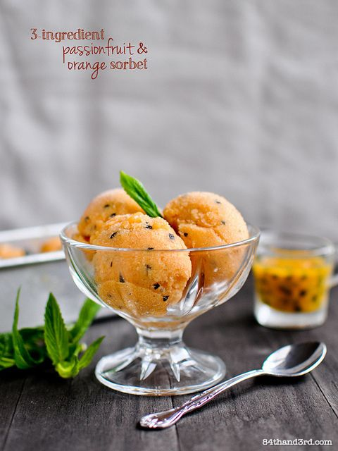 Passionfruit & Orange Sorbet by 84thand3rd, via Flickr