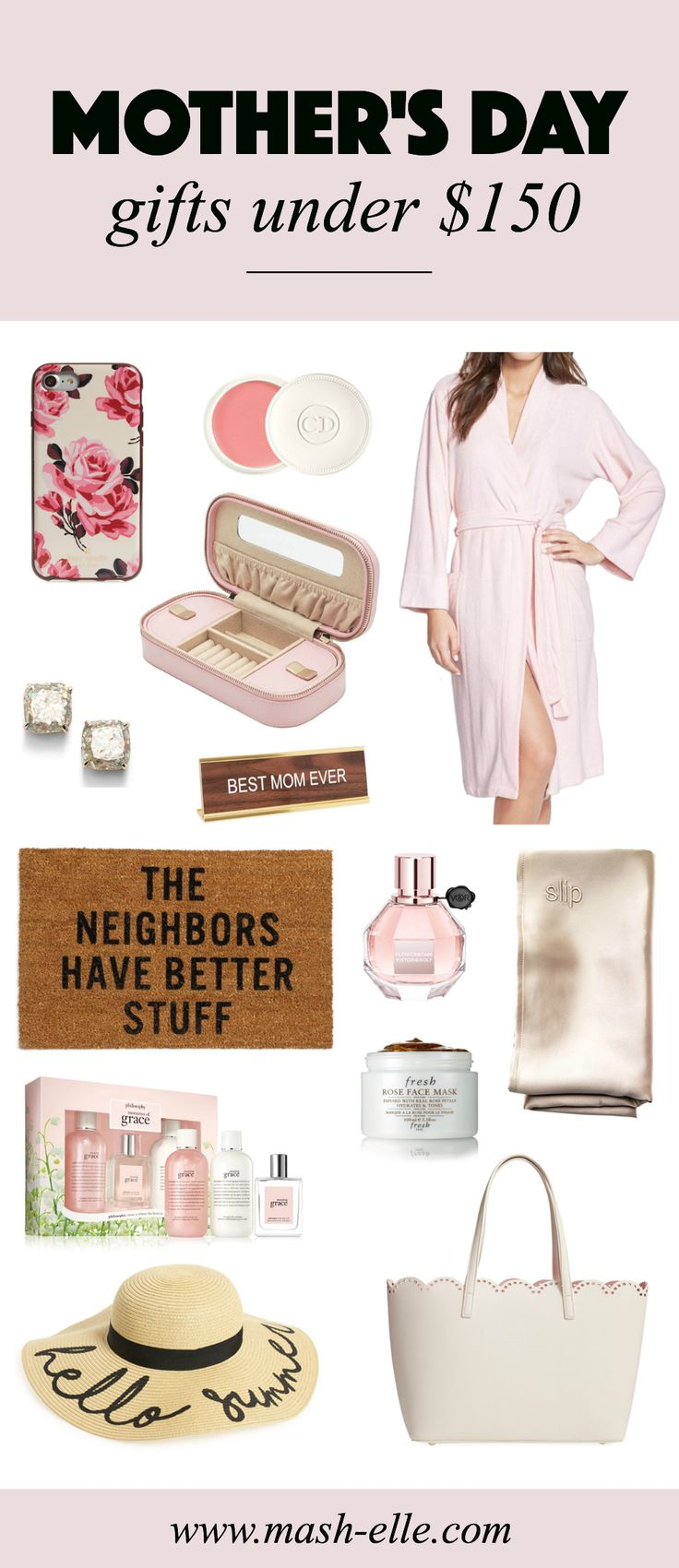 Looking for the perfect Mother's Day gift?! I've got you covered! | | Blogger Mash Elle rounds up some of the best gift ideas for Mother's Day. Spoil the moms in your life with affordable home decor, fashion, beauty and kitchenware gifts!