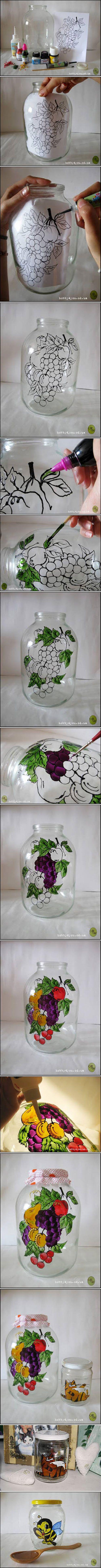 Handmade picturi pe sticla -Tutorial