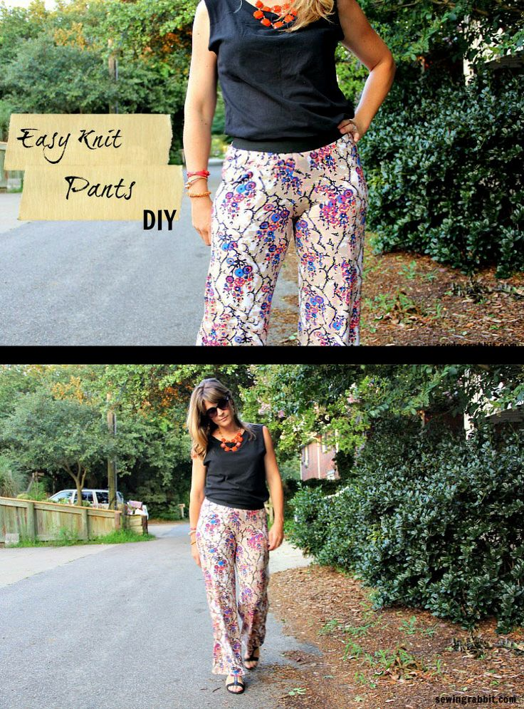 Knit Shorts Pattern : How to Sew an easy pair of knit pants DIY Tutorials, Comment and Pants