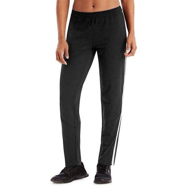 Women's Champion Stripe Track Pants ($36) ❤ liked on Polyvore featuring activewear, activewear pants, black, champion activewear, track pants and champion sportswear