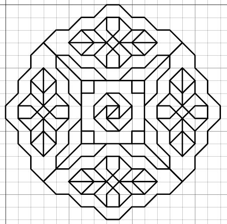 Imaginesque: Blackwork Embroidery: Frames/Borders (and Fill...) Pattern