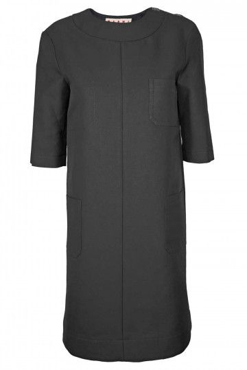 Marni Dress - Black Shift,
