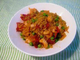 En verden af smag!: Stegte Ris med Chorizo og Rejer