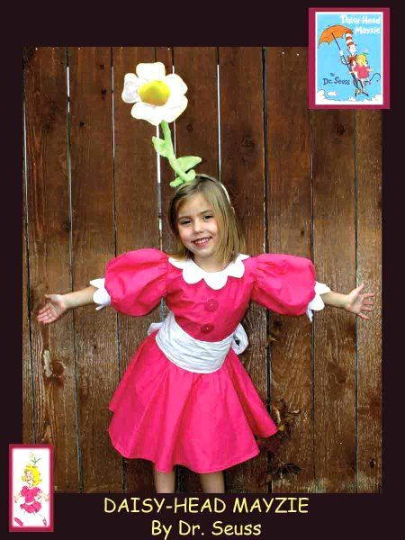 Dr. Seuss Character Costumes | Kaylee - Daisy-Head Mayzie. Dr. Seuss - Homemade costumes for families