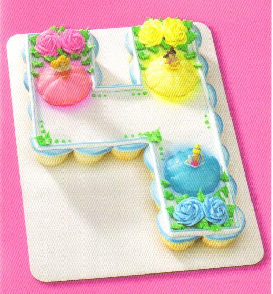 Disney princess number cupcake cake