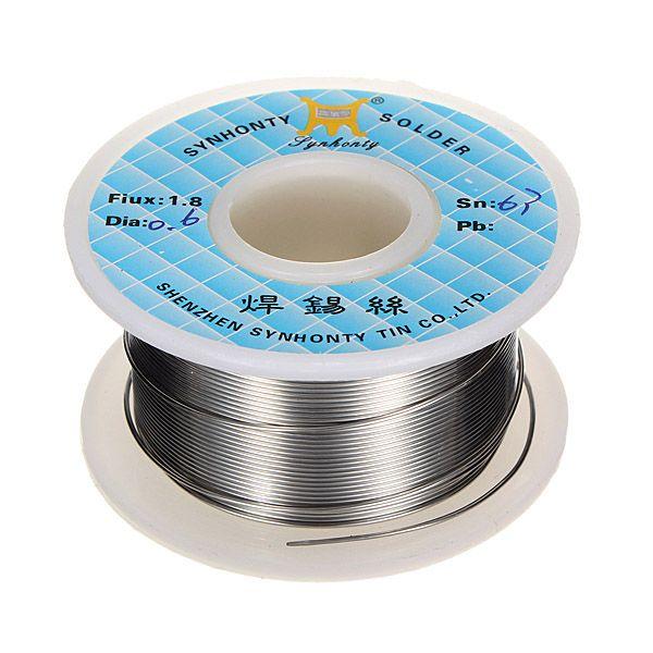 50g 0.6mm 63/37 Rosin Core Flux 1.8% Tin Lead Roll Soldering Solder ...