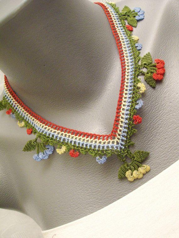 Crochet Necklace by StudioCybele on Etsy