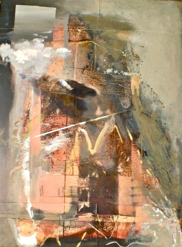 ELAINE d'ESTERRE - Escarpment Loss, 2010, oil on canvas, 120x90 cm by Elaine d'Esterre at http://elainedesterreart.com and http://www.facebook/elainedesterreart/ and http://instagram.com/desterreart/