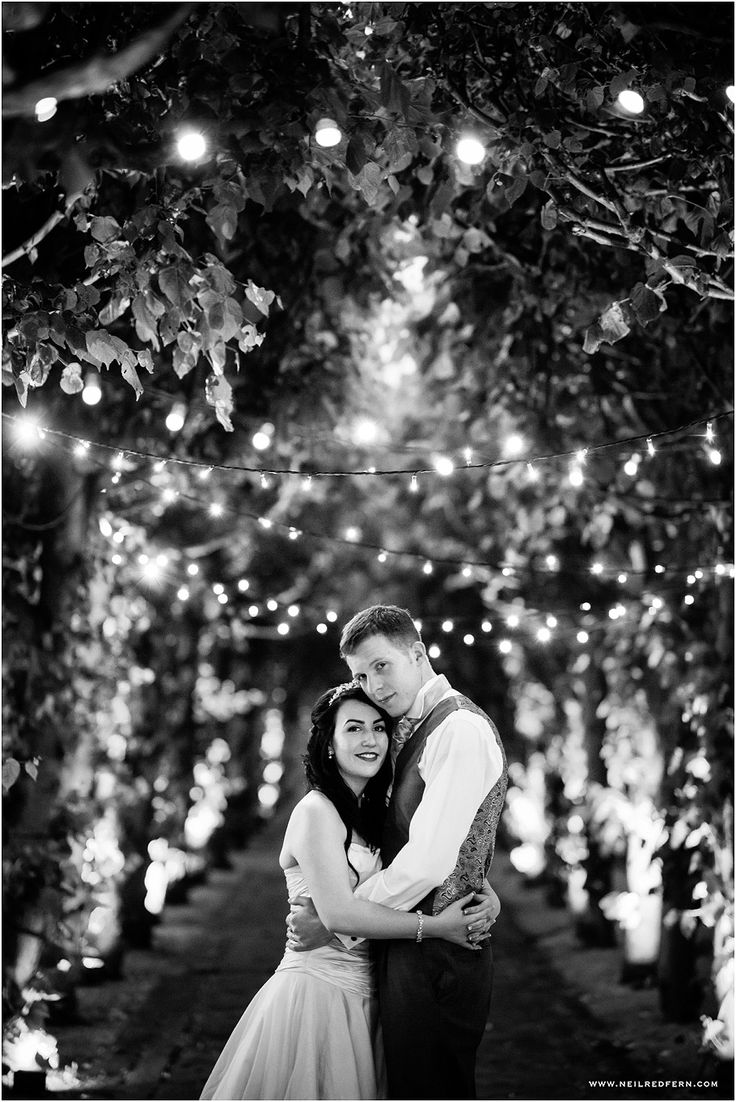Twinkly wedding pic by the amazing Neil Redfern!