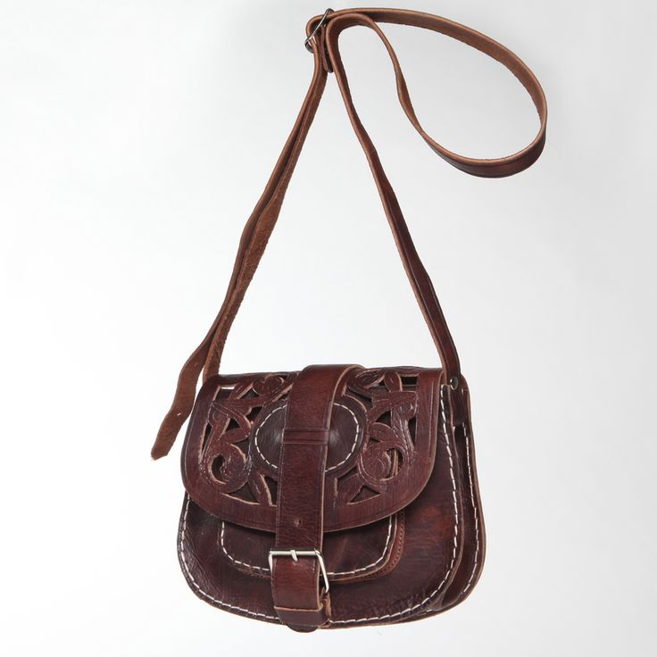Chocolate Cut Leather Saddle Bag With Shoulder Strap Morocco Ping Top Rated Bags Lovely Things Pinterest
