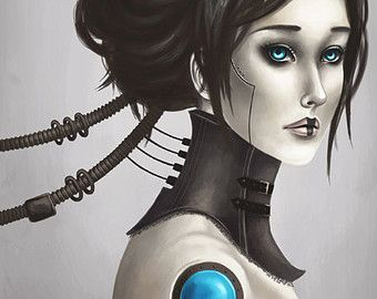 Female Robots With Wolves Art Google Search Robots