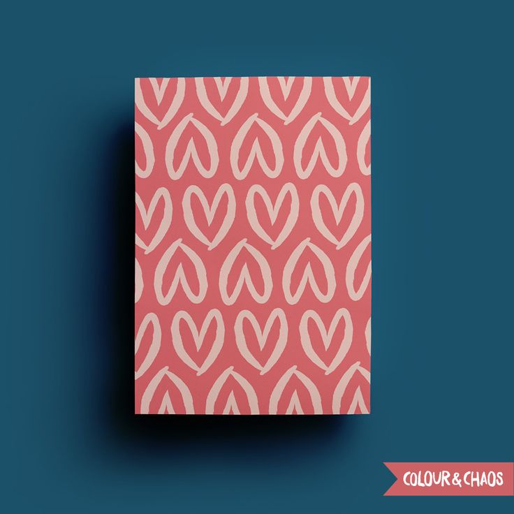 I Heart You A5 Print (Coral/Pink)