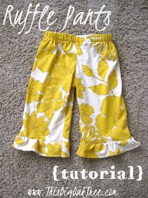 Ruffle pants pattern