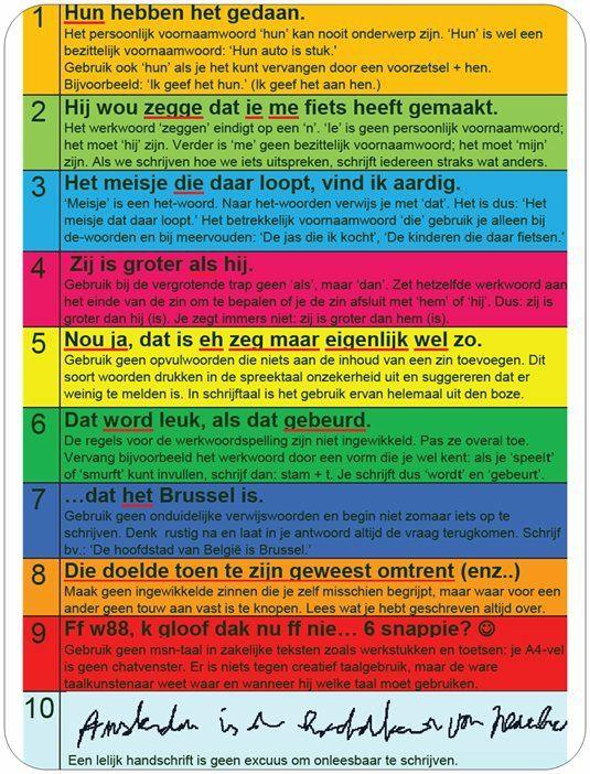 10 meest voorkomende taalfouten op een rijtje