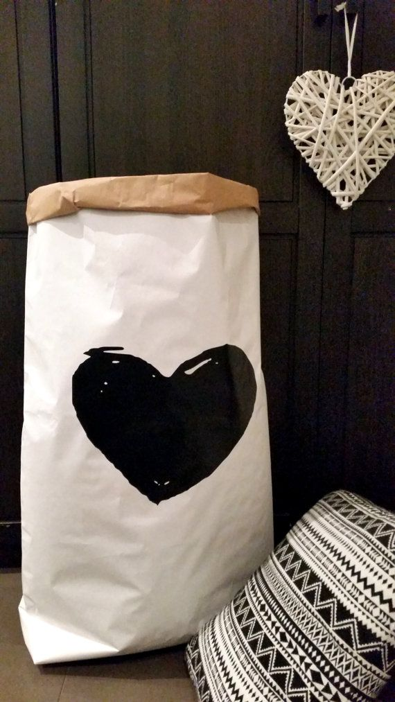 Heart - kraft paper bag. Check out this item in my Etsy shop https://www.etsy.com/uk/listing/252417617/heart-shape-paper-storage-sack-paper-toy