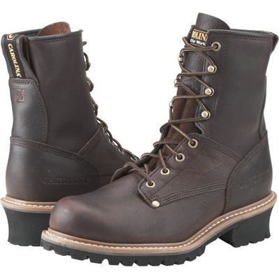 $104 (a few in size 10, 10.5, 11, 11.5) Carolina Logger Boot — 8in., Model# 821