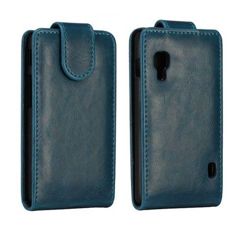 Wall Street (Mørk blå) LG Optimus L5 II Lær Flipp Etui