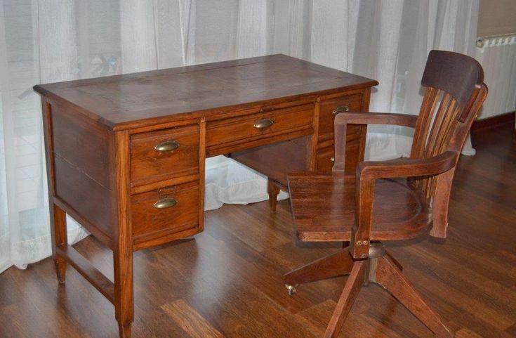 Escritorio y silla de despacho restaurados el antes y el despu s despacho escritorios y - Sillas despacho amazon ...