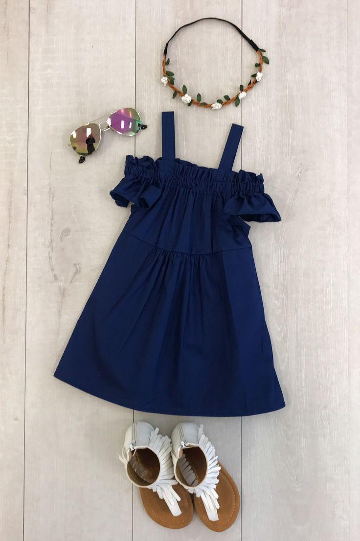Navy Off-Shoulder Dress